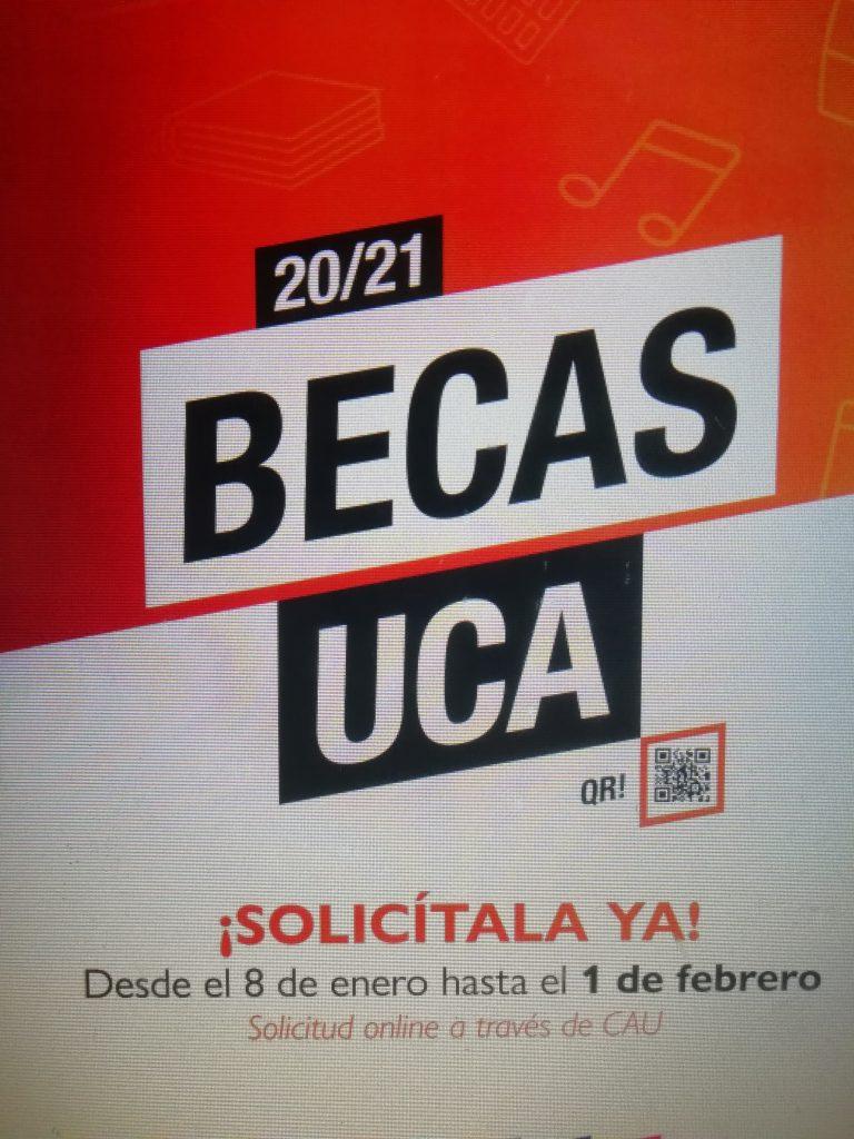 Becas UCA. Convocatoria abierta hasta el 1 de febrero.